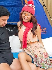 Hobo Fucking a Beautiful Ladyboy!
